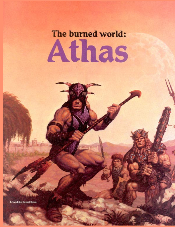 The Burnt World Of Athas 30 Days Of Dark Sun 1 Favorite Setting