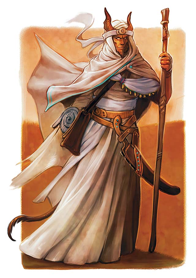 Desert tiefling courtesy of WotC