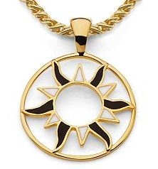 Balicite Gold Sun Medallion
